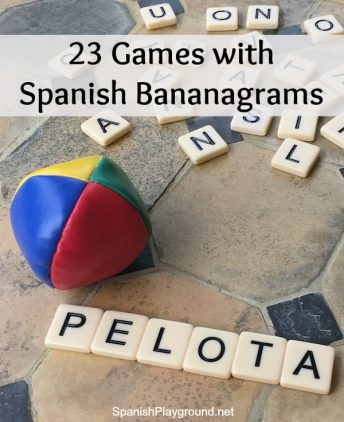 Children practice letter and syllable sounds with these games using Spanish Bananagrams.