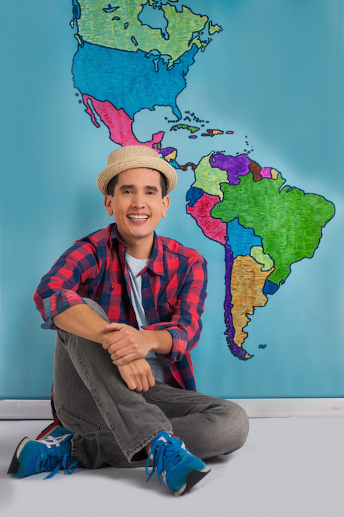 Songs for learning Spanish from 123 Andrés introduce children to basic concepts.