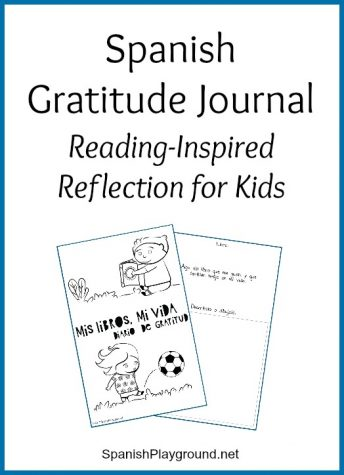 A Spanish gratitude journal based on books teaches language and appreciation.