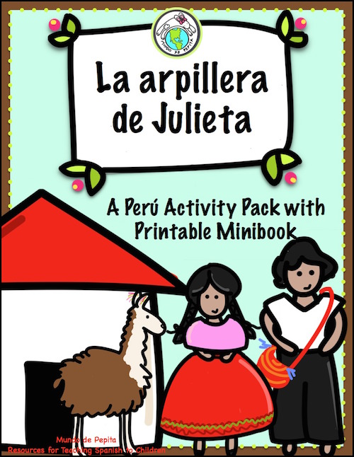 A free pack of culture activities for Spanish class based on the Andean arpillera.