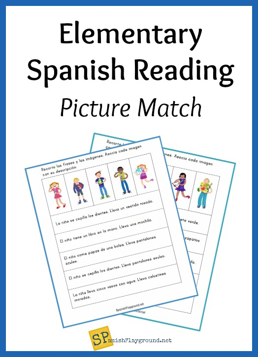 Pictures and simple descriptions for elemenary Spanish reading practice.