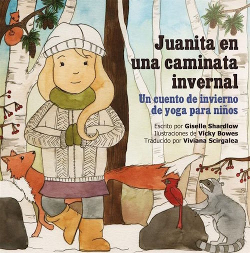 Spanish yoga books to teach children vocabulary related to the seasons.