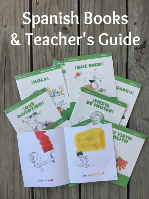 Ten elementary Spanish books introduce vocabulary related to themes.