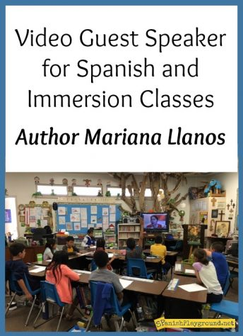 Author Mariana Llanos engages language learners in authentic communication as a Skype guest speaker in Spanish class.