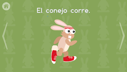 This Spanish app for kids teaches vocabulary in the context of familiar stories.