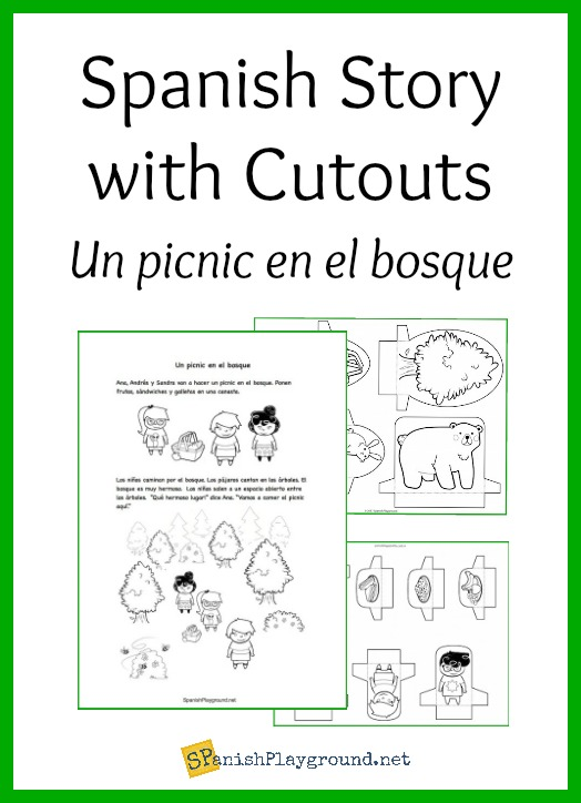 Create comprehensibe input using this Spanish story with cutouts.