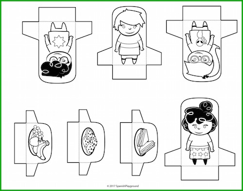 It is easy to create comprehensibe input using this Spanish story with cutouts.