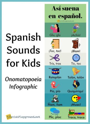Spanish onomatopoeia are useful for teaching vowel sounds and common vocabulary.