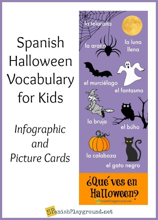 spanish halloween infographic for kids spanish playground. Black Bedroom Furniture Sets. Home Design Ideas