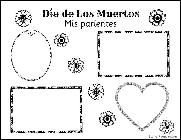 This photo activity recognizing family members who have died is part of a collection of easy Day of the Dead crafts.