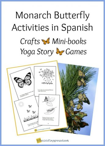A selection of Monarch butterfly activities including a printable minibook in Spanish and English.