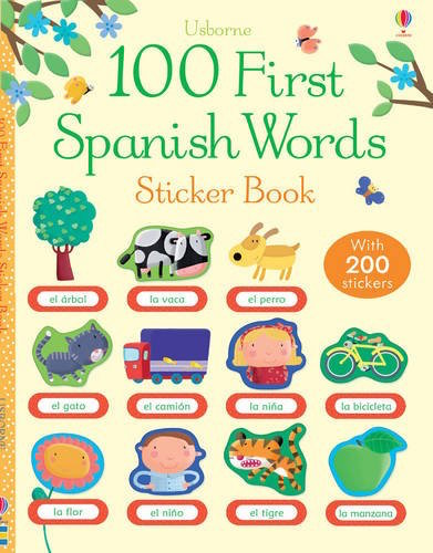 This first words Spanish sticker book is a fun way for kids to learn new vocabulary.