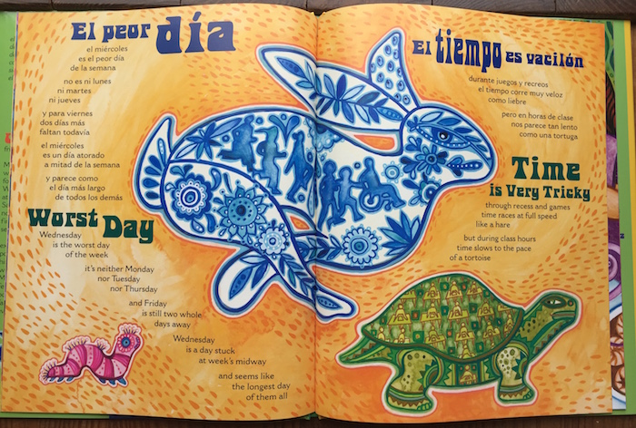 The bilingual poems in Family Poems for Every Day of the Week are excellent Spanish days of the week activities for children.