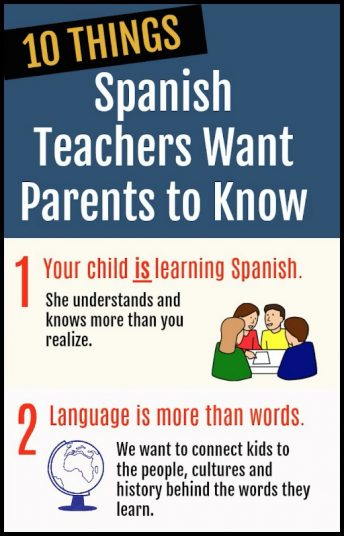 Spanish teachers want parents to know they care about learning and the child.