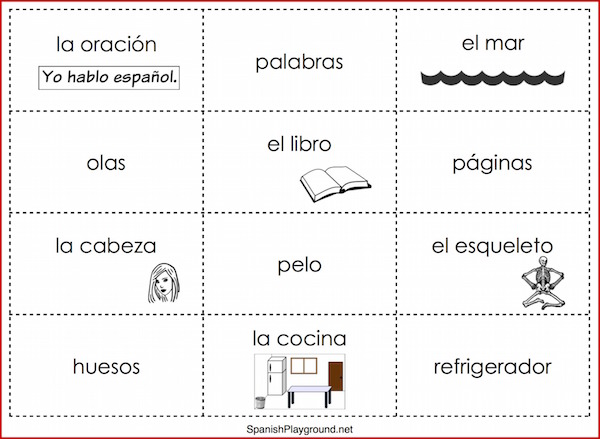 photograph regarding Sentence Building Games Printable named Spanish Sentence Coming up with Game titles - Spanish Playground