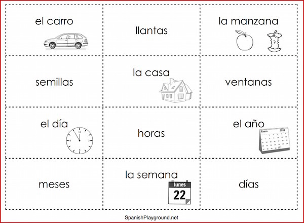 photo about Sentence Building Games Printable identify Spanish Sentence Coming up with Online games - Spanish Playground