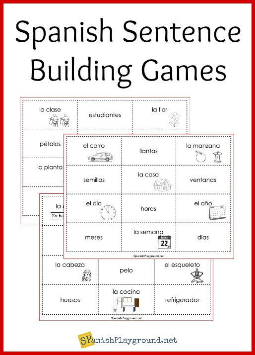 photo regarding Sentence Building Games Printable called Spanish Sentence Planning Game titles - Spanish Playground