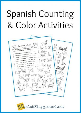 Punchy image pertaining to free printable spanish color worksheets