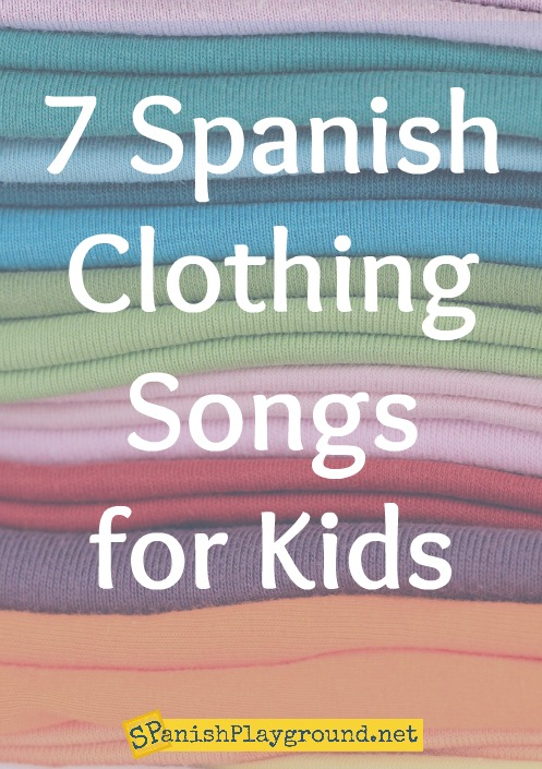 Kids learn vocabulary for clothes, weather, seasons and places with these Spanish clothing songs.