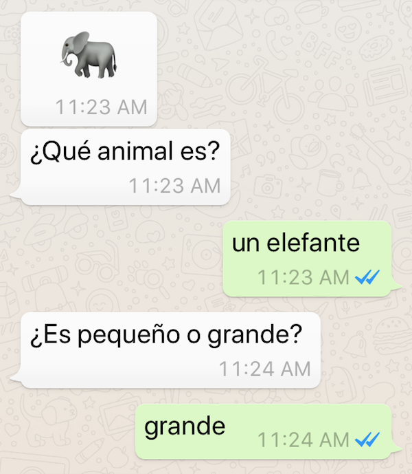 Emojis are a fun way to learn Spanish on your phone.