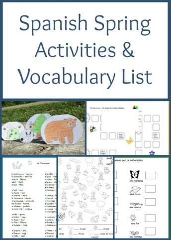 Songs, printables activities, poems, stories and outdoor games are all Spanish spring activities that engage children with new vocabulary.
