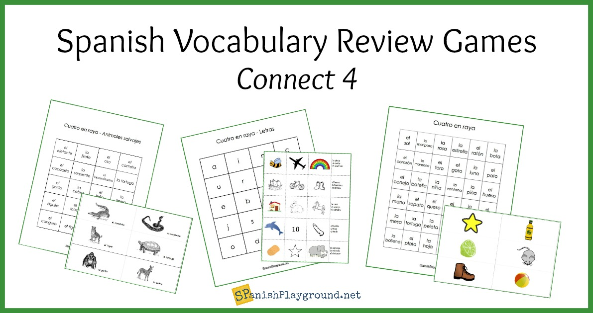 spanish vocabulary review games connect 4 spanish