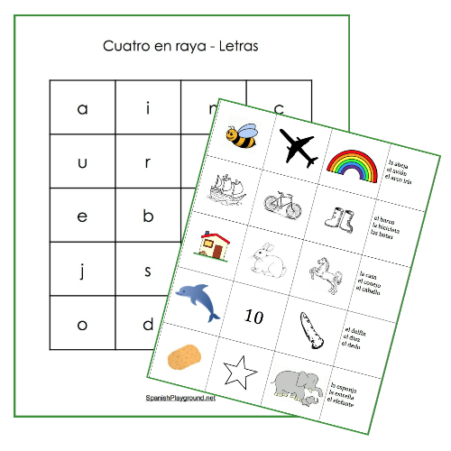 These Spanish vocabulary review games associate words with pictures.