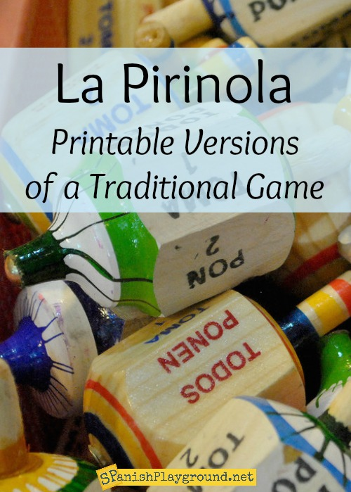 Play printable versions of the traditional toma todo game with Spanish learners.