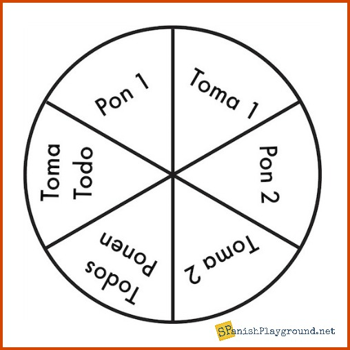 photo regarding Dreidel Game Rules Printable identified as Toma Todo Sport: La Pirinola - Spanish Playground