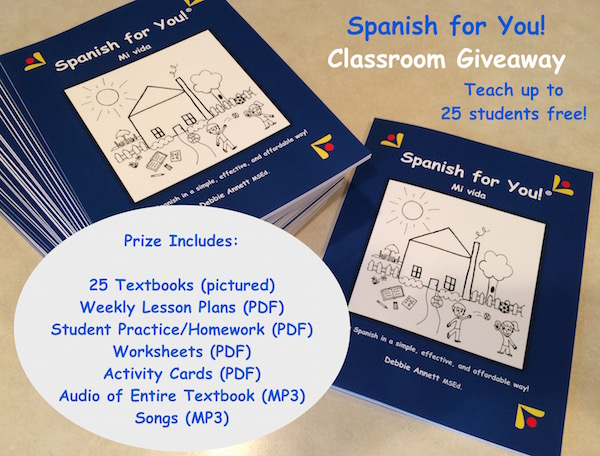 Spanish for you program in this Spanish class giveaway is theme-based and standards aligned.