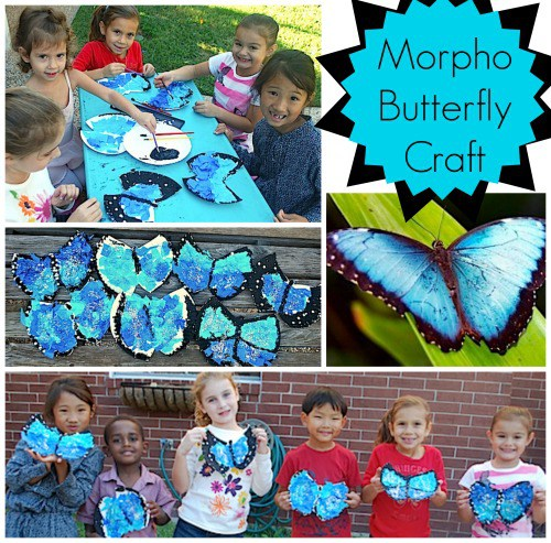 This butterfly art is one of the many Latin American crafts for Spanish class that you can find on Kid World Citizen.