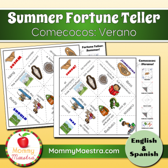 This printable Spanish fortune teller game is a fun way to review vocabulary or learn new words.