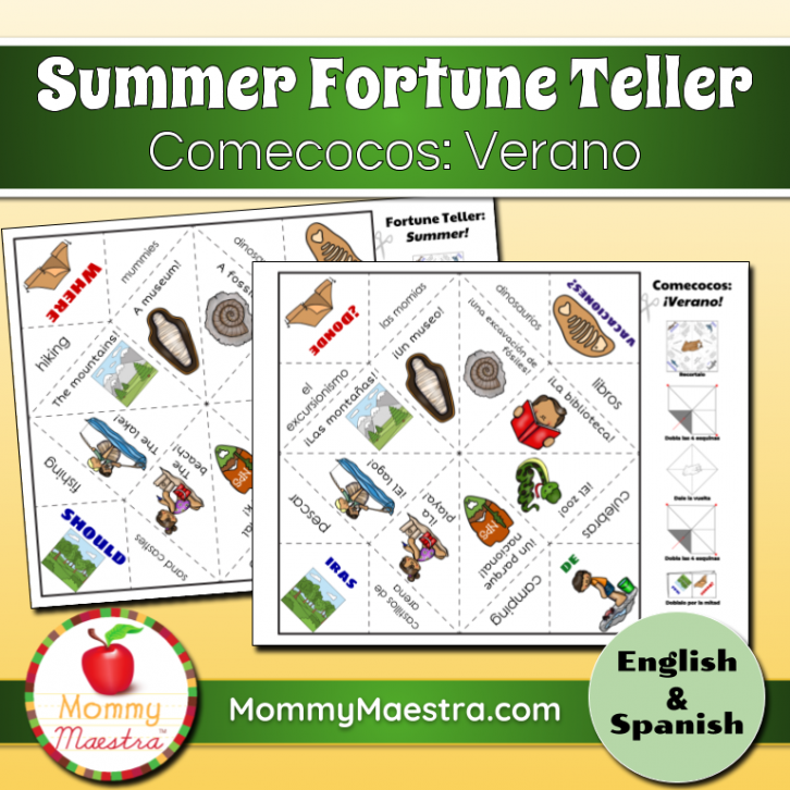 image regarding Printable Fortune Teller named Spanish Fortune Teller for Language College students - Spanish