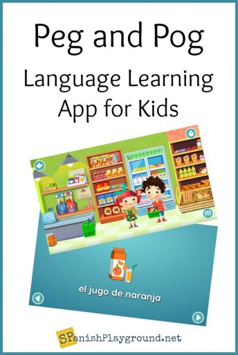 Peg and Pog is a Spanish language learning app with native speaker audio and opportunity for creative play.