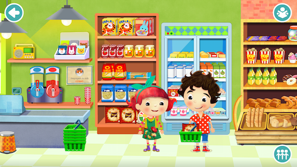 Peg and Pog is a Spanish learning app for kids with eight different scenes.