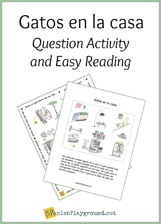 A Spanish picture-based reading and questions to use as a la casa vocabulary activity with elementary Spanish learners.