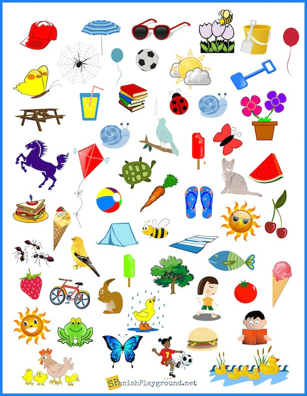 graphic relating to I Spy Printable called Spanish I Spy Looking at Match for Language Students - Spanish