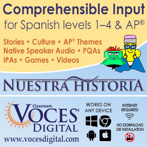 A comprehendible input curriculum from Nuestra Historia.