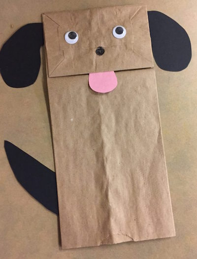 Paper bag puppets are excellent crafts for learning body parts.