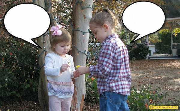 Use speech bubble photos to practice greetings and polite expressions.