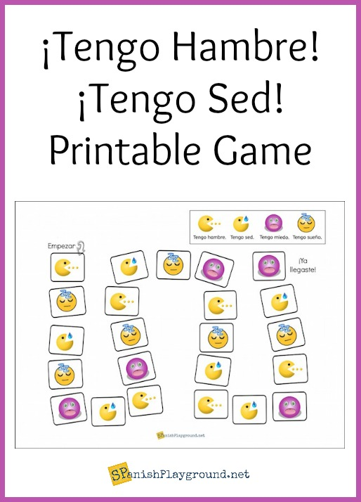 Students learn Spanish tener expressions with this printable board game.