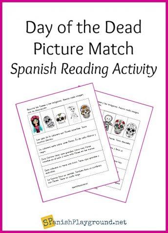 This Day of the Dead Spanish reading activity ties in to Día de los muertos as kids practice language skills.