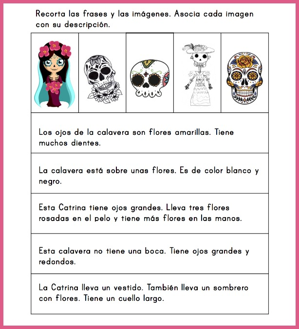 Use this Day of the Dead Spanish reading activity as a cultural tie-in to Día de los muertos for elementary students.