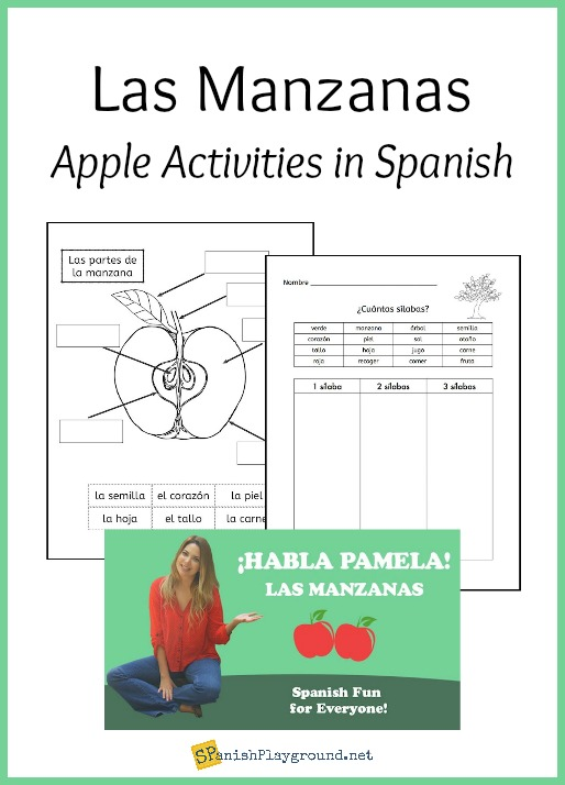 Videos, crafts, songs and books are all apple activities in Spanish that help children master key vocabulary.