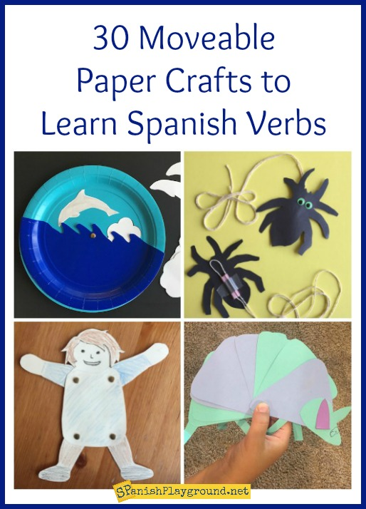 Use these moveable paper crafts to teach kids verbs and vocabulary.