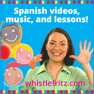 Spanish songs, videos and DVDs for kids.