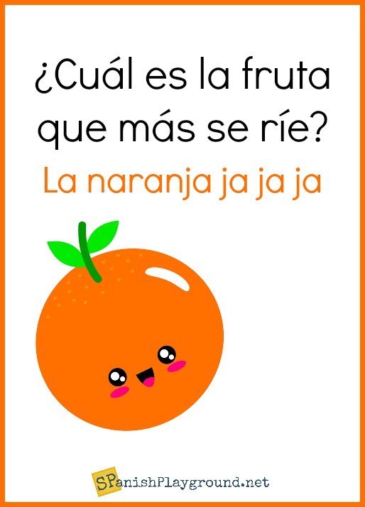 Spanish jokes are excellent language learning for kids.