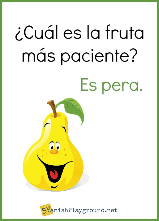 Spanish jokes about food are a fun way for kids to speak Spanish.