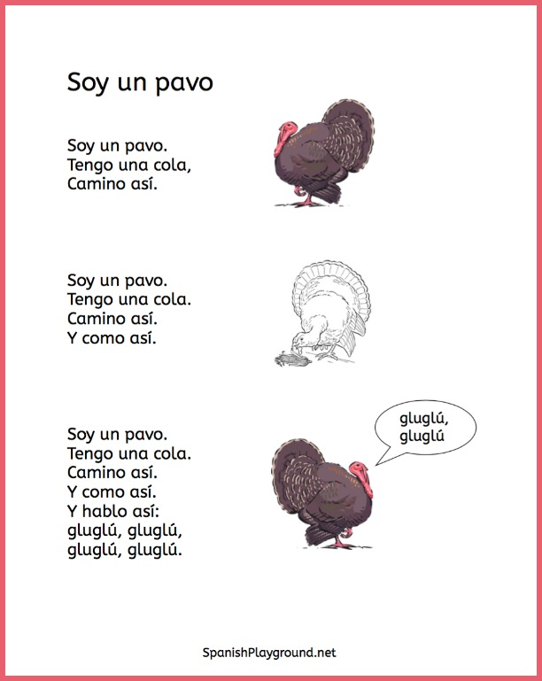 These dramatic Spanish Thanksgiving poems teach elementary students useful language.
