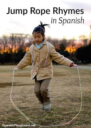 Traditional Spanish games like jump rope rhymes are a fun way to learn language.